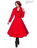 Приталенное длинное шерстяное пальто B4047 (114047) - foto