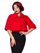 Красное шерстяное полупальто Belsira (114049) - оригинальная одежда, 2