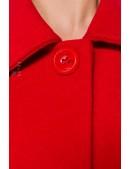 Красное шерстяное полупальто Belsira (114049) - материал, 6