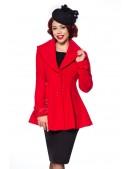 Полушерстяное пальто с баской B4050 (114050) - цена, 4