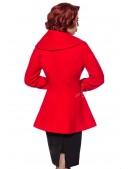 Полушерстяное пальто с баской B4050 (114050) - оригинальная одежда, 2