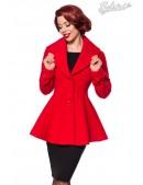 Полушерстяное пальто с баской B4050 (114050) - foto