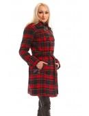 Пальто зимнее женское в клетку X5049 (115049) - цена, 4