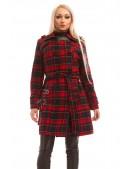 Пальто зимнее женское в клетку X5049 (115049) - 3, 8