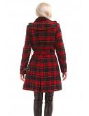 Пальто зимнее женское в клетку X5049 (115049) - оригинальная одежда, 2