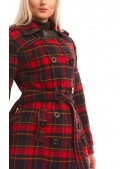 Пальто зимнее женское в клетку X5049 (115049) - материал, 6