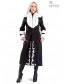 Зимнее пальто с мехом и вышивкой Xstyle (115067) - foto