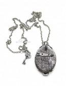 Брошь-кулон Замок с ключом (712012) - оригинальная одежда, 2