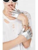 Серебристые перчатки без пальцев XT1177 (601177) - оригинальная одежда, 2