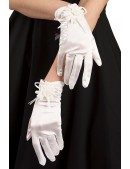 Вечерние белые перчатки XA1151 (601151) - оригинальная одежда, 2