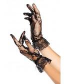 Ажурные черные перчатки A1178 (601178) - foto