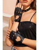 Женские кожаные перчатки без пальцев X1181 (601181) - оригинальная одежда, 2