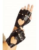 Женские кожаные перчатки без пальцев X1181 (601181) - материал, 6