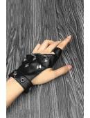 Женские кожаные перчатки без пальцев с цепями и клепками X1186 (601186) - foto