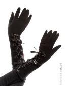 Длинные зимние перчатки со шнуровкой (601135) - foto