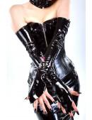 Лаковые перчатки со шнуровкой (601038) - оригинальная одежда, 2