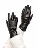 Зимние кожаные перчатки с мехом (601134) - foto