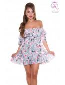 Летнее платье Babydoll с цветочным узором KouCla (105509) - foto