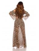 Длинное летнее леопардовое платье KC5511 (105511) - оригинальная одежда, 2