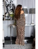 Длинное летнее леопардовое платье KC5511 (105511) - цена, 4