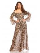 Длинное летнее леопардовое платье KC5511 (105511) - материал, 6