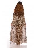 Длинное летнее леопардовое платье KC5511 (105511) - 3, 8