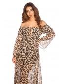 Длинное летнее леопардовое платье KC5511 (105511) - 4, 10