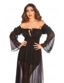 Длинное черное летнее платье KC5513 (105513) - 4, 10