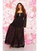 Длинное черное летнее платье KC5513 (105513) - оригинальная одежда, 2