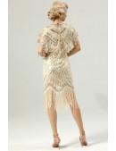 Накидка-шаль с пайетками в стиле Гэтсби U127 (104127) - материал, 6