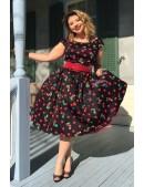 Платье Рокабилли с карманами и поясом XTC5356 (105356) - оригинальная одежда, 2