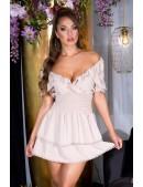 Кокетливое короткое платье с V-образным вырезом KC505 (105505) - foto
