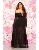 Длинное черное летнее платье KC5513 (105513) - foto