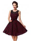 Платье в красный в горошек с сеточкой B5515 (105515) - оригинальная одежда, 2