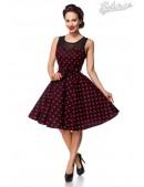 Платье в красный в горошек с сеточкой B5515 (105515) - foto