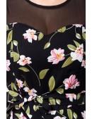 Платье в стиле Ретро с цветочным узором B5516 (105516) - оригинальная одежда, 2