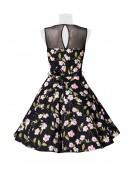 Платье в стиле Ретро с цветочным узором B5516 (105516) - материал, 6