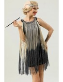 Короткое платье с бахромой в стиле 1920х U5522 (105522) - цена, 4