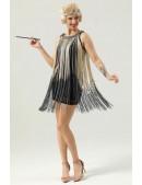 Короткое платье с бахромой в стиле 1920х U5522 (105522) - оригинальная одежда, 2