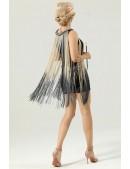 Короткое платье с бахромой в стиле 1920х U5522 (105522) - 3, 8