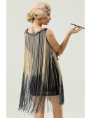 Короткое платье с бахромой в стиле 1920х U5522 (105522) - материал, 6