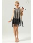 Короткое платье с бахромой в стиле 1920х U5522 (105522) - foto