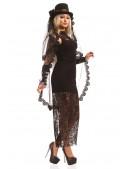 Длинное черное платье X5076 (105076) - материал, 6