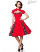 Красное ретро-платье с болеро (105257) - foto