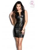 Шипованное платье под кожу KouCla (105383) - foto