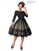 Винтажное платье с кружевом на юбке B5387 (105387) - foto