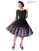 Винтажное платье с вышитой юбкой (105388) - foto