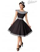 Ретро платье с воротником и поясом Belsira (105418) - foto