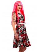 Платье Rockabilly с поясом X436 (105436) - оригинальная одежда, 2