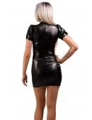 Кожаное платье с чокером X441 (105441) - материал, 6